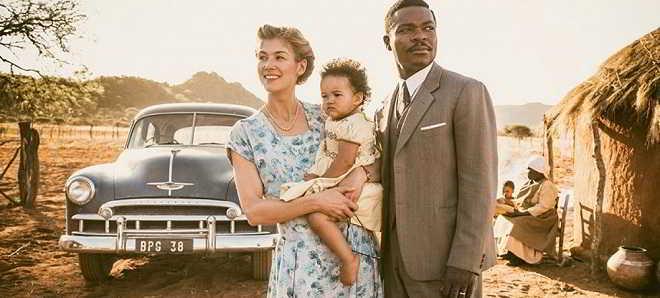 Trailer do drama interracial 'A United Kingdom' com David Oyelowo e Rosamund Pike
