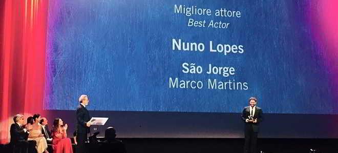 Festival de Veneza 2016: Nuno Lopes venceu prémio de melhor ator