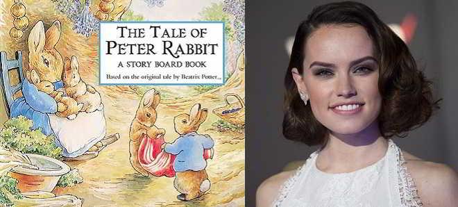 Daisy Ridley anexada ao elenco da adaptação live-action de 'Peter Rabbit'