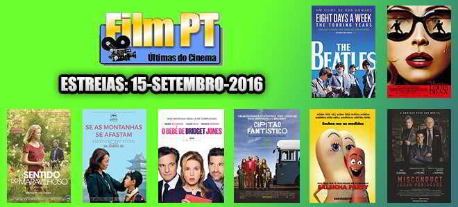 Estreias de Filmes da Semana: 15 de setembro de 2016