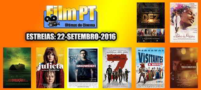 Estreias de Filmes da Semana: 22 de setembro de 2016