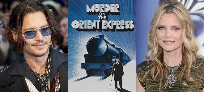 Depp e Pfeiffer cotados para o remake de 'Um Crime no Expresso do Oriente'