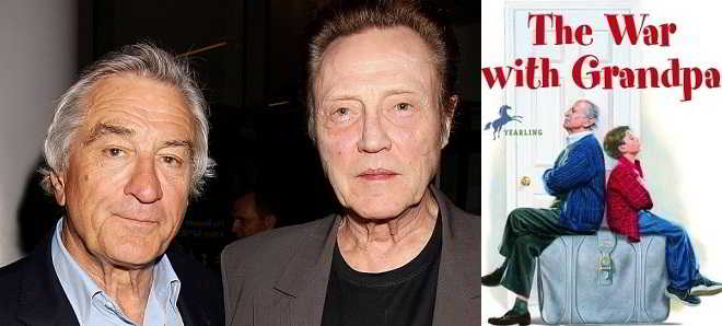 Robert De Niro e Christopher Walken juntos na comédia 'The War with Grandpa'