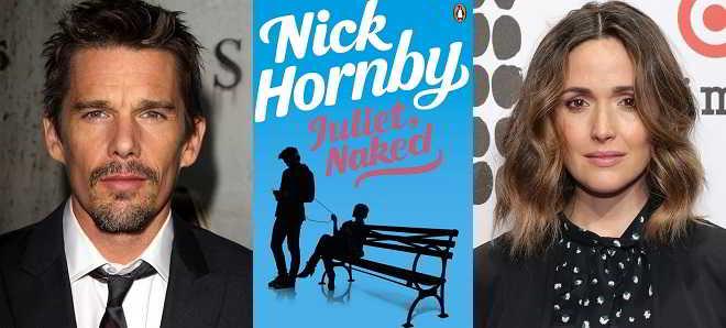 Ethan Hawke e Rose Byrne em negociações para a adaptação de 'Juliet, Nacked'