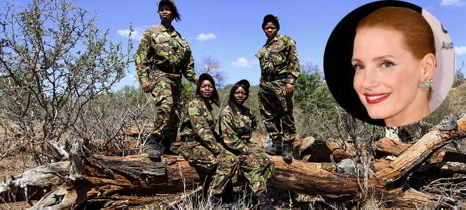 Jessica Chastain vai produzir filme sobre as Black Mambas