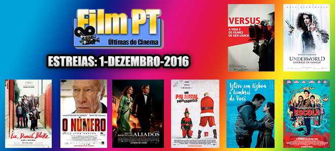 Estreias de Filmes da Semana: 1 de dezembro de 2016