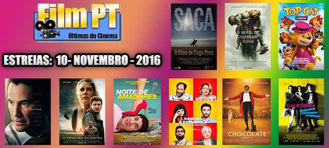Estreias de Filmes da Semana: 10 de novembro de 2016