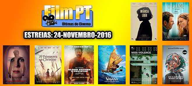 Estreias de Filmes da Semana: 24 de novembro de 2016
