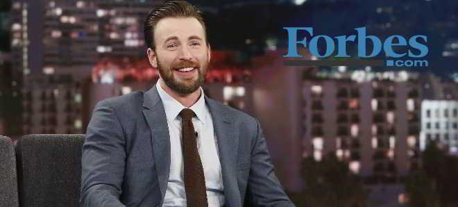 Chris Evans considerado pela Forbes como o ator mais valioso de Hollywood
