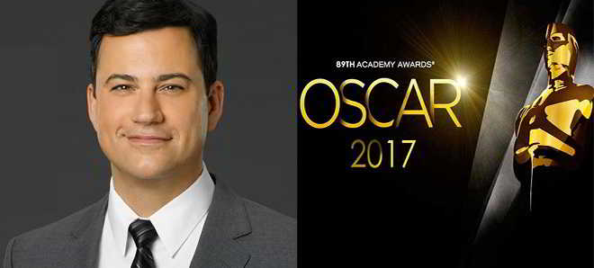 Jimmy Kimmel vai apresentar a cerimónia dos Óscares 2017