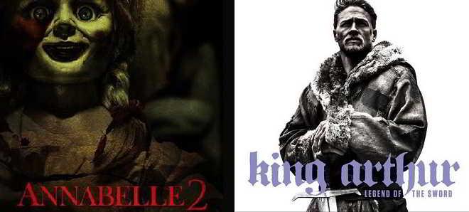 Warner Bros. adiou as estreias de 'Annabelle 2' e 'Rei Artur: A Lenda da Espada'