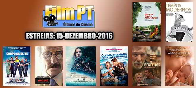 Estreias de Filmes da Semana: 15 de dezembro de 2016