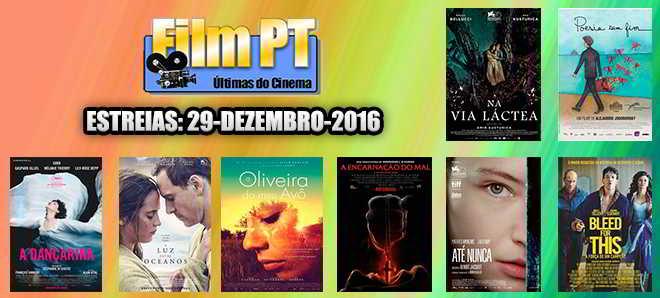 Estreias de Filmes da Semana: 29 de dezembro de 2016