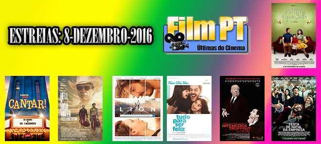 Estreias de Filmes da Semana: 8 de dezembro de 2016