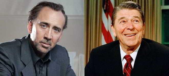 Nicolas Cage poderá interpretar Ronald Reagan no grande ecrã