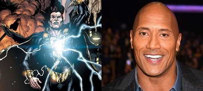 Dwayne Johnson vai interpretar o vilão Black Adam num filme a solo
