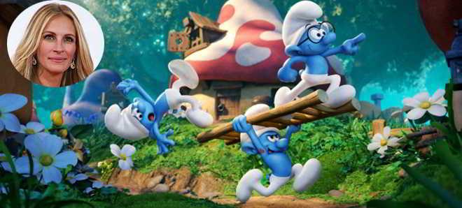 Julia Roberts anexada ao elenco de vozes da animação 'Smurfs: A Aldeia Perdida'