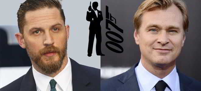 Tom Hardy quer ser James Bond com Christopher Nolan a realizador