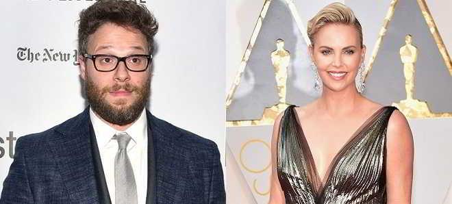 Seth Rogen e Charlize Theron juntos na comédia 'Flarsky'