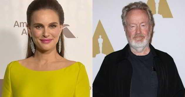 Natalie Portman é a preferida de Ridley Scott para protagonizar o seu próximo filme