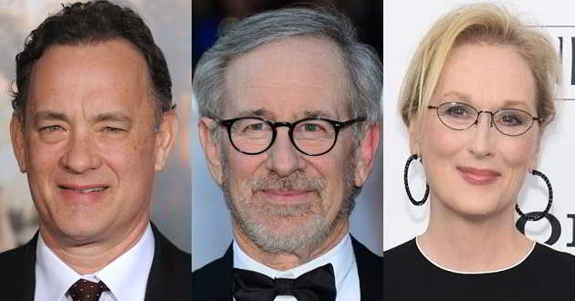 Steven Spielberg vai dirigir 'The Post' com Tom Hanks e Meryl Streep no elenco