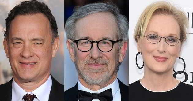 Steven Spielberg vai dirigir 'The Post' com Tom Hanks e Meryl Streep no elenco