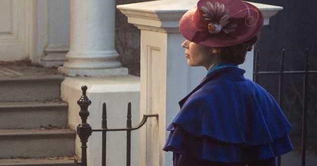 Revelada a primeira imagem de Emily Blunt como Mary Poppins