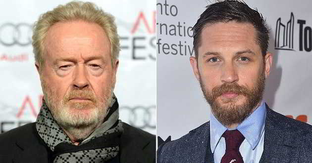 Ridley Scott vai produzir 'War Party' com Tom Hardy a protagonista