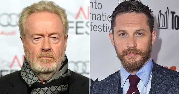 Ridley Scott vai produzir 'War Party' com Tom Hardy a protagonista