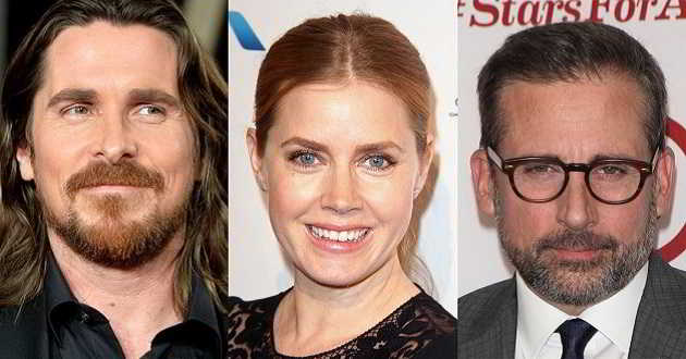 Christian Bale, Amy Adams e Steve Carell pretendidos para 'Dick Cheney'