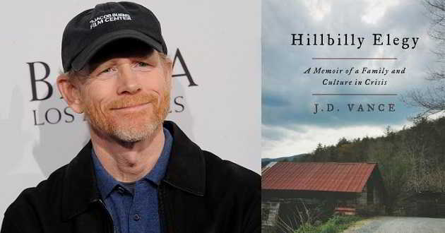 Ron Howard vai produzir e dirigir a adaptação do drama 'Hillbilly Elegy'