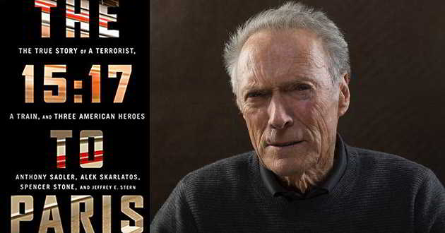 Clint Eastwood vai dirigir a adaptação cinematográfica de 'The 15:17 to Paris'