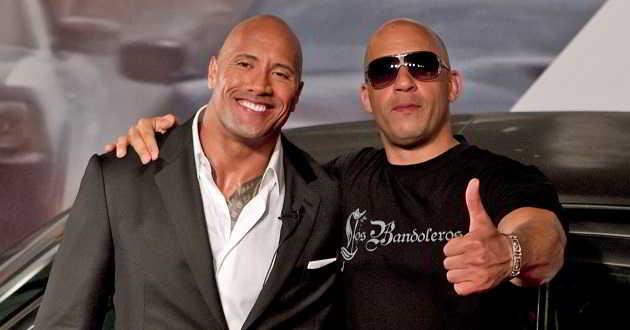 Vin Diesel e Dwayne Johnson vão estar juntos em 'Velocidade Furiosa 9'