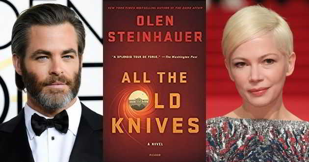 Chris Pine e Michelle Williams em negociações para 'All The Old Knives'