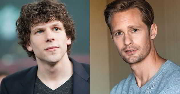 Jesse Eisenberg e Alexander Skarsgard juntos no thriller 'The Hummingbird Project'