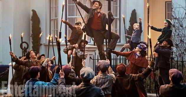 Divulgadas novas imagens do musical 'Mary Poppins Returns'