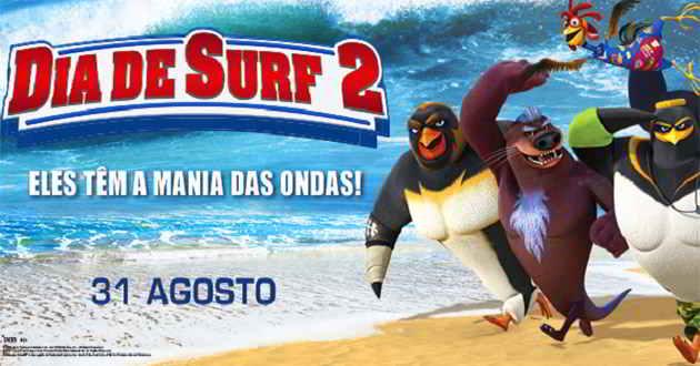 Eles adoram surfar! Trailer português da animação