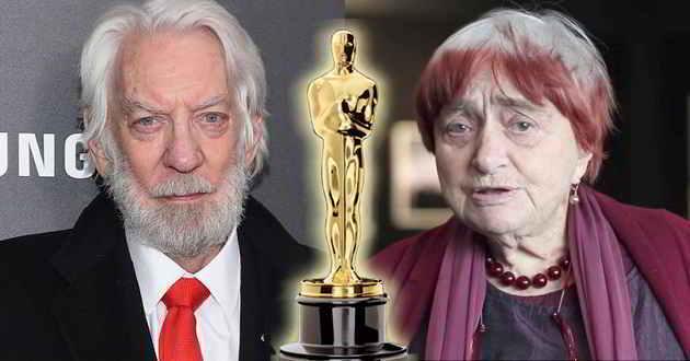 Donald Sutherland e Agnès Varda vão receber um Óscar honorário em novembro
