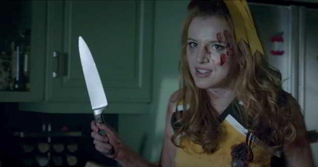 Bella Thorne no sangrento trailer da comédia de terror