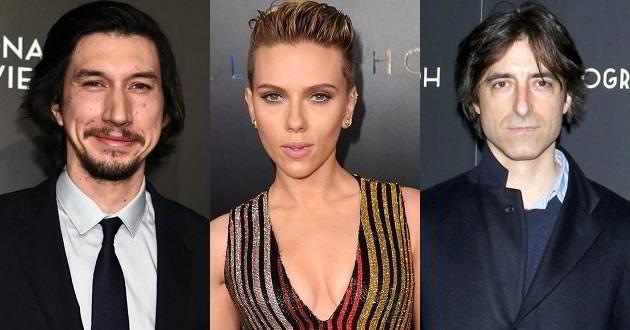 Adam Driver e Scarlett Johansson protagonizarão o próximo filme de Noah Baumbach
