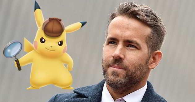 Ryan Reynolds será o Detective Pikachu na adaptação live-action