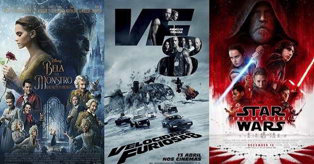 Box Office 2017: Mais receitas mundiais e menos originalidade
