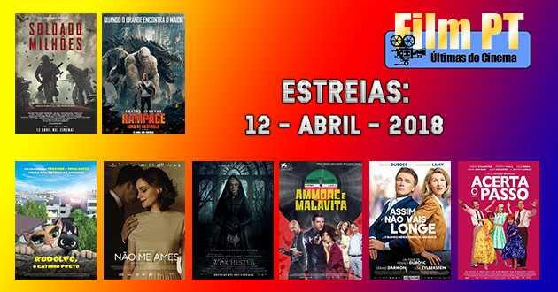 Estreias de Filmes da Semana: 12 de abril de 2018