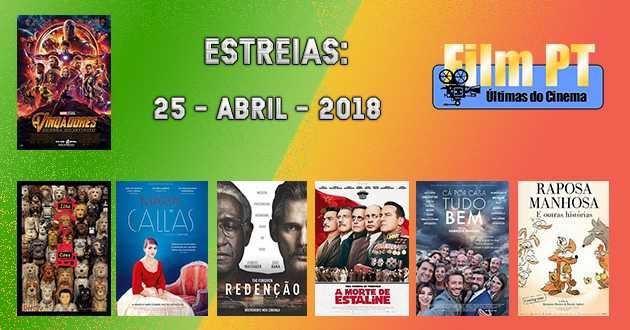 Estreias de Filmes da Semana: 25 de abril de 2018