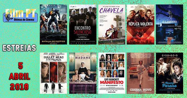 Estreias de Filmes da Semana: 5 de abril de 2018