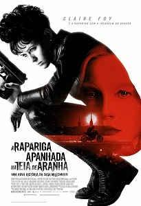 Poster do filme A Rapariga Apanhada na Teia da Aranha