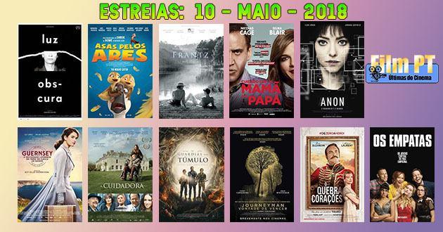 Estreias de Filmes da Semana: 10 de maio de 2018