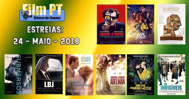 Estreias de filmes nos cinemas portugueses a 24 de maio de 2018