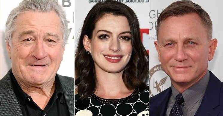 Robert De Niro, Anne Hathaway, Daniel Craig e outros vão ter uma estrela na Calçada da Fama