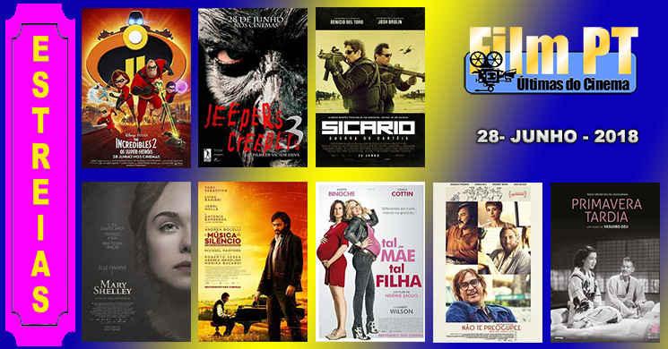 Estreias de filmes nos cinemas portugueses: 28 de junho de 2018